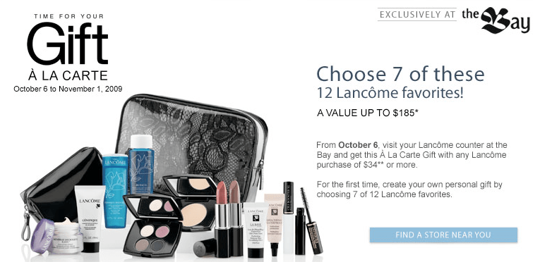 The Bay Canada: Lancome Gift with Purchase of $34+