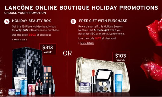 Lancome Canada: Holiday Gift Sets are here, and Gift with Purchase ...