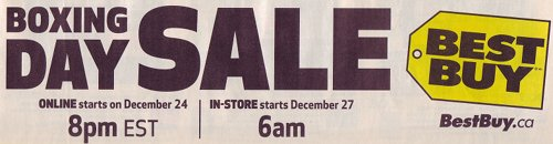 Best Buy Canada Boxing Day Flyers