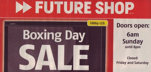 Futureshop boxing day sale