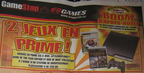 Gamestop EB Games Boxing day Flyer