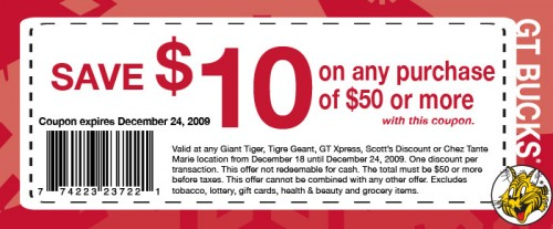 coupon tigre geant