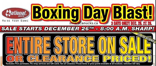 National Sports Boxing Day Flyer