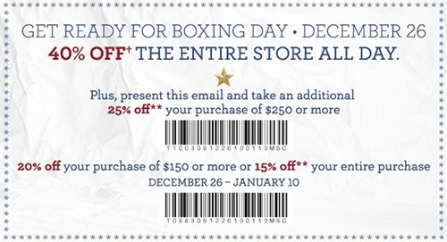 graphic regarding Tommy Hilfiger Coupon Printable known as Tommy Hilfiger Canada Boxing Working day Printable Coupon Canadian