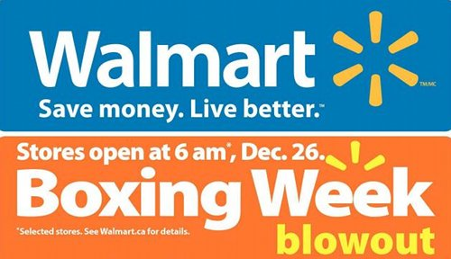 Walmart Canada Boxing Week Flyer