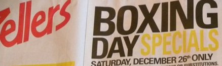 Zellers Boxing Day Flyer