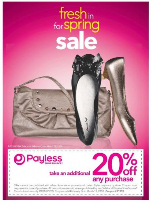 photo relating to Payless Shoes Printable Coupon referred to as Payless Footwear Canada Printable Coupon Preserve 20% Canadian