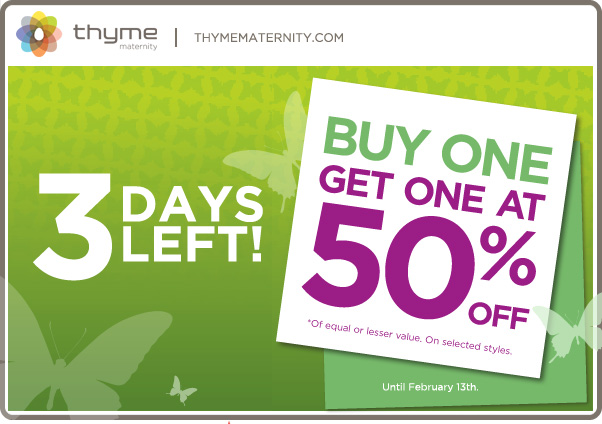 Thyme maternity coupon codes 2018