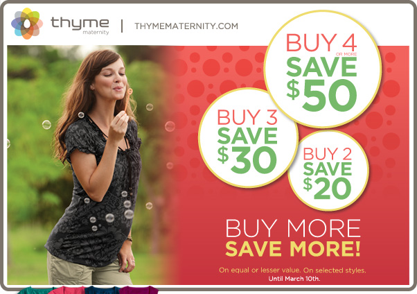 Thyme maternity coupons december 2018