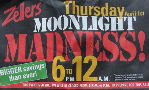Zellers Moonlight Madness Canada 2010