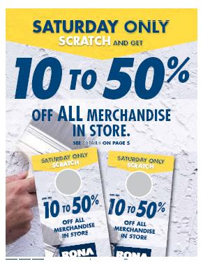 "Responses to ""Rona Canada Scratch and Save 10-50% May 22 Only"""