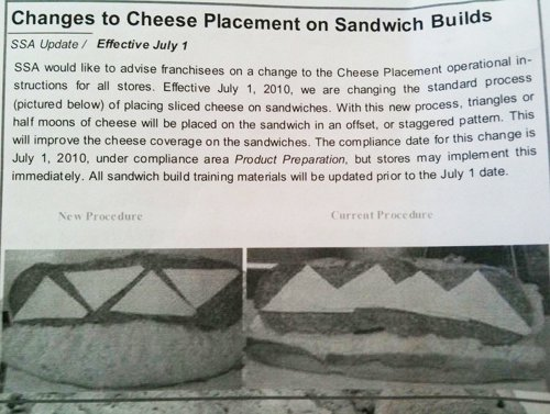 Subway Cheese Canada