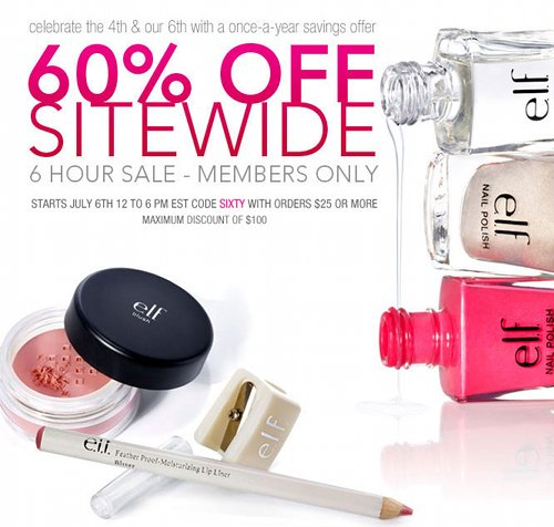 ELF Cosmetics Canada sale