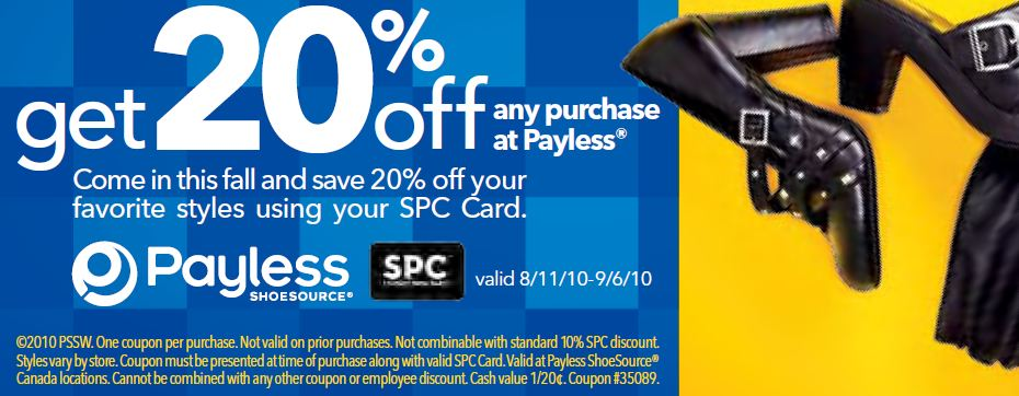 Payless canada coupons may 2018