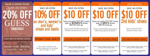 picture about Guess Printable Coupons titled The Shoe Business Canada On-line and In just-keep Coupon Price reduction