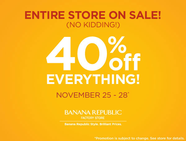 Banana Republic Factory gives you the same quality and design you love from Banana Republic but at prices that can't be beat. Save significantly on stylishly refined casualwear, workwear and .