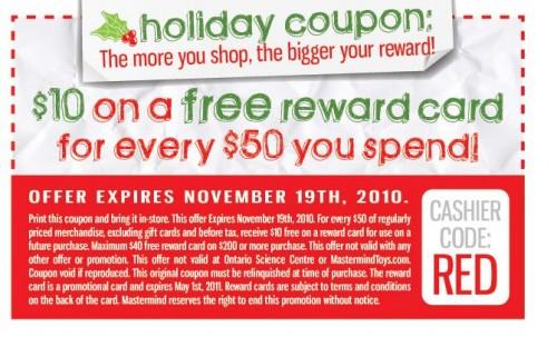 Mastermind coupon canada