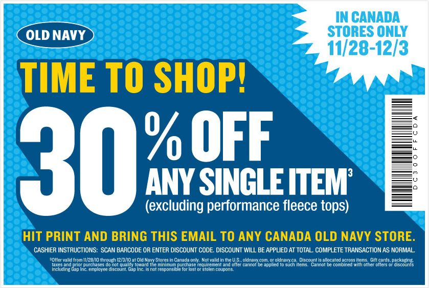 photo relating to Old Navy Printable Coupon identified as Outdated military printable discount coupons canada - Overstock coupon 15