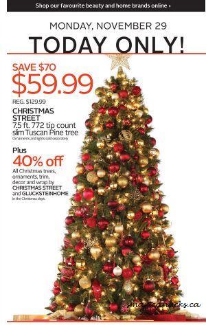 The Bay: 7.2 Ft. Tuscan Pine Tree $59.99, 40% Off Christmas Decor ...