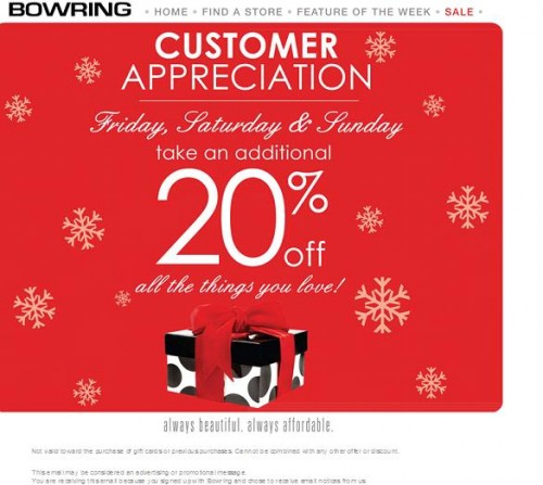 Bowring discount coupons