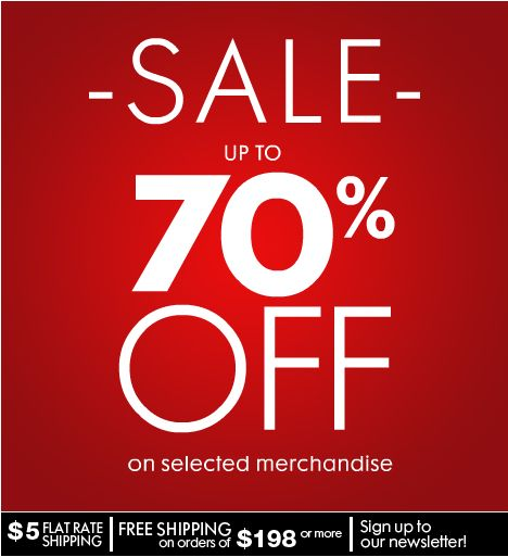 Late deals 70 off
