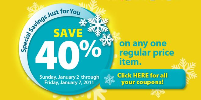 Michaels is offering some new coupons valid from January 2nd to January 7th