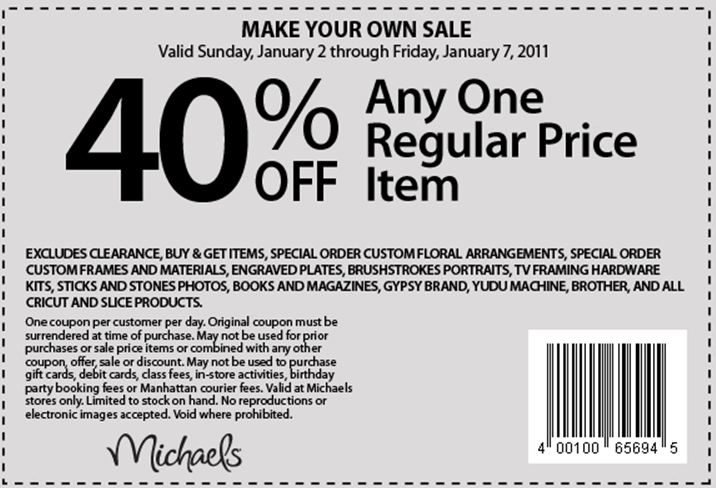 Michaels 40 printable coupons 2018