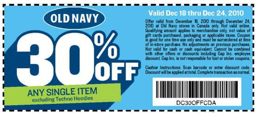 Old navy canada coupon december 2018