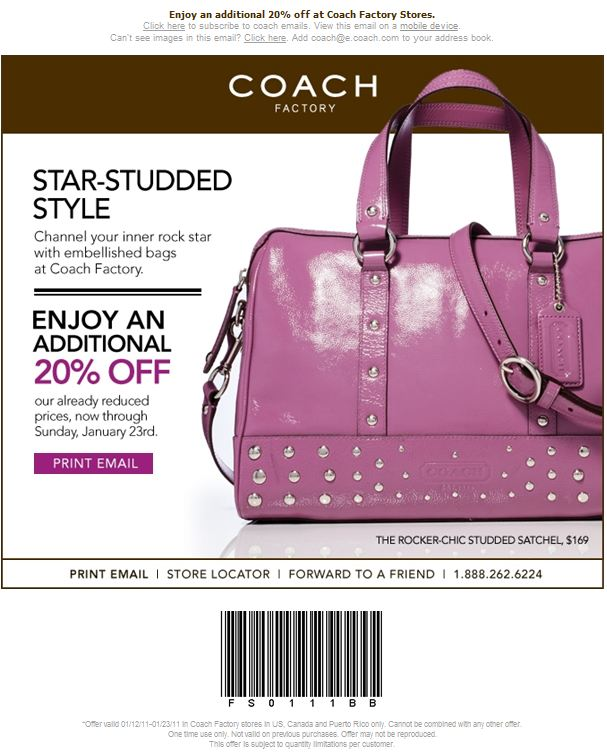 Coach Promo Codes & Holiday Coupons for December, Save with 3 active Coach promo codes, coupons, and free shipping deals. 🔥 Today's Top Deal: Free Shipping and Free Returns on Any Orders. On average, shoppers save $43 using Coach coupons from nudevideoscamsofgirls.gq
