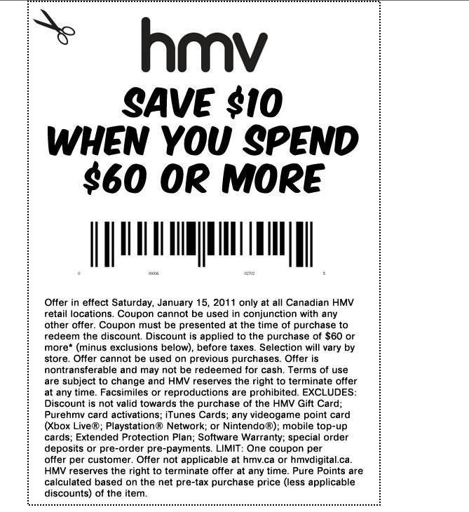 coupon for hmv