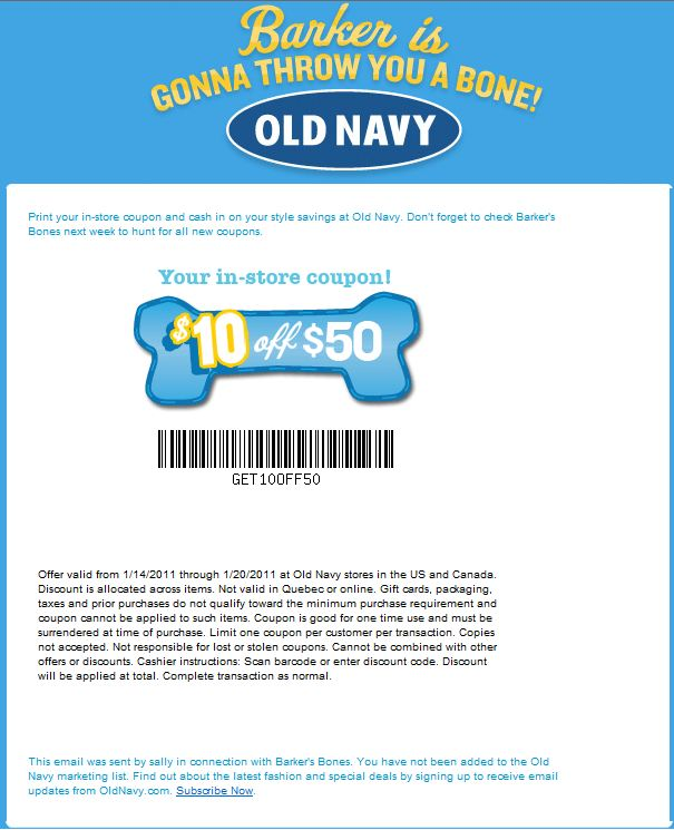 The best Old Navy Canada promo code right now is STYLE. This code is for '20% off Everything'. This code is for '20% off Everything'. Copy it and enter it on the Old Navy Canada checkout page to use it.