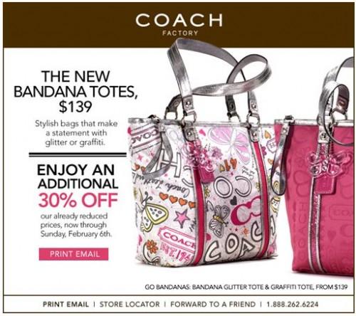 Coach purse coupons canada