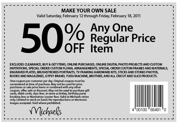 Michaels coupons nl