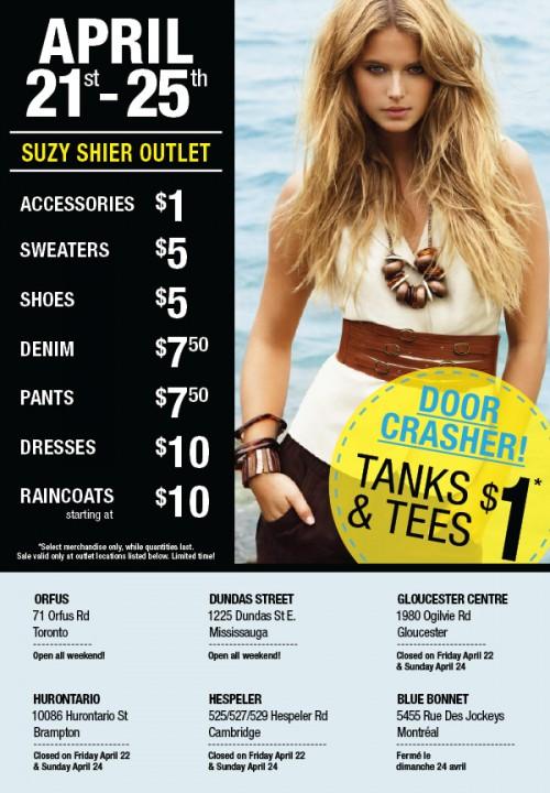 """1d9e7d1003356 6 responses to """"Suzy Shier Canada Outlet Sale  April 21 – 25"""
