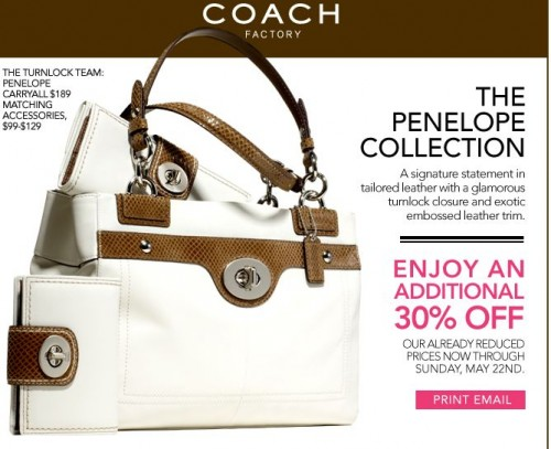 coach coupons outlet 3t15  Coach is offering another discount coupon for their Factory Store! This is  above and beyond any in-store discounts and offers I'm hoping they release  a