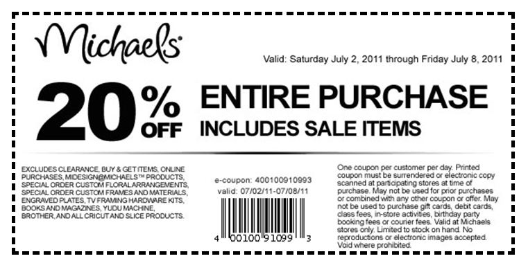 Even if the items you want aren't on sale, you can use a coupon code or printable coupon to get up to 60% off. Check out Michaels Weekly Ad to see what's on sale this week and get in-store offers for everything from custom framing, art supplies, custom canvas prints, to custom invitations.