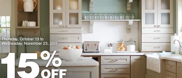 Home Depot Canada: 15% off all kitchen cabinets   Canadian ...