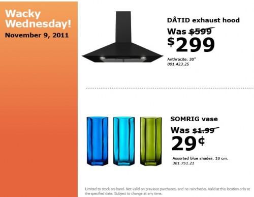 Ikea Canada Wacky Wednesday Deals November 9th Canadian