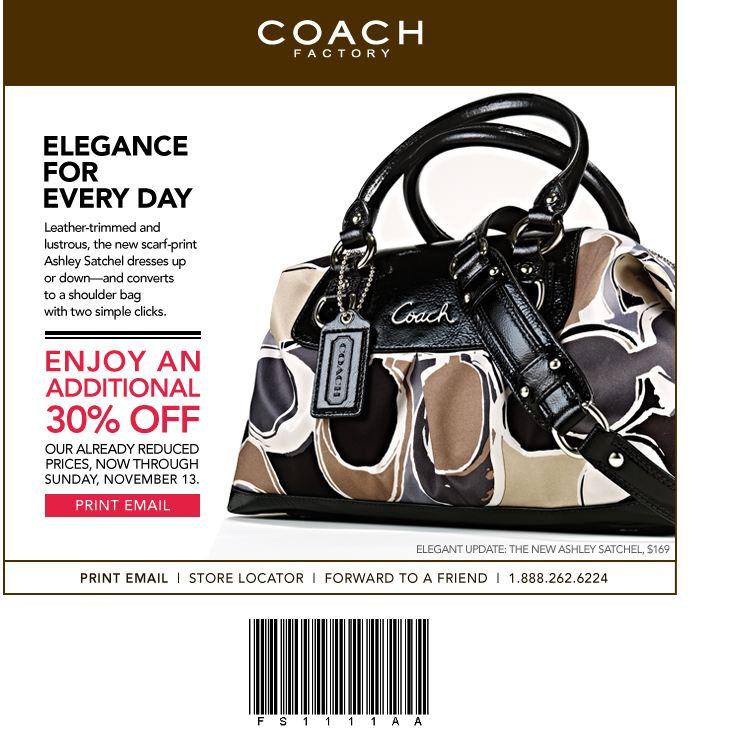 Printable coach outlet coupons november 2018