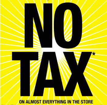 superstore no tax event