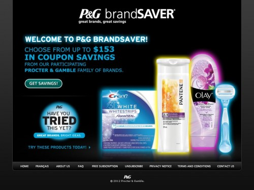 P&g brandsaver coupons online