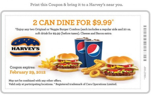 Harvey's canada coupons 2018