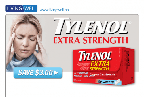 photograph about Nicorette Printable Coupon named Livingwell.ca: Tylenol, Benylin, Nicorette, a lot more