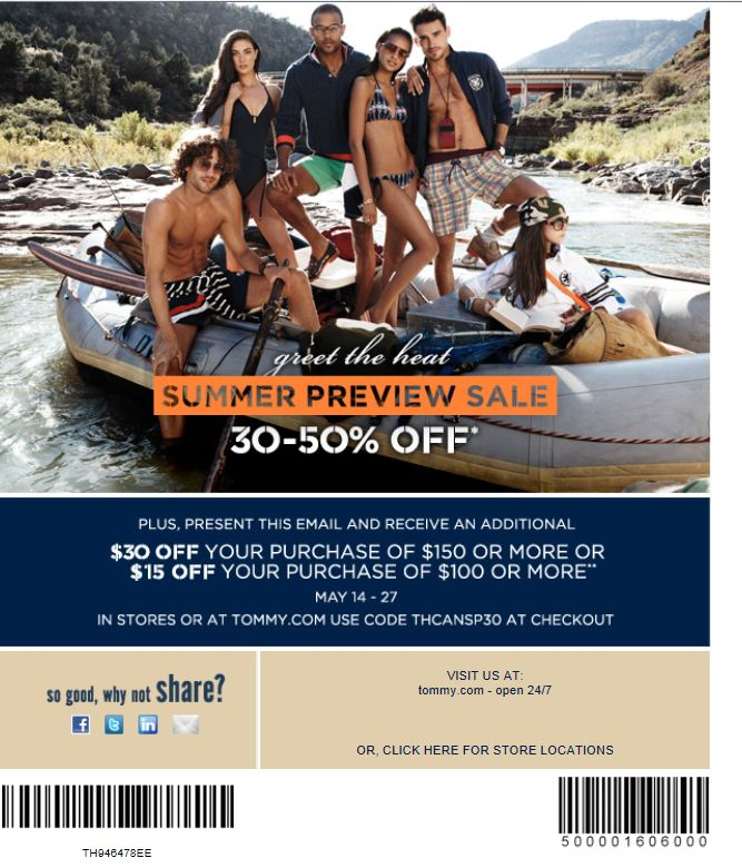image regarding Tommy Hilfiger Outlet Coupon Printable referred to as Tommy Hilfiger Outlet Canada: Fork out Additional Preserve Even further