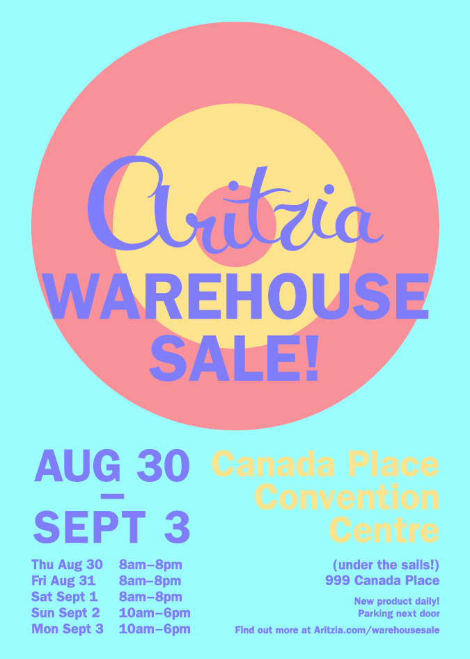 Aritzia Warehouse Sale Canadian Freebies Coupons Deals