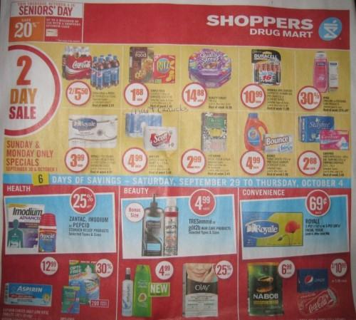 Shoppers Drug Mart Ontario Flyer Sneak Peek Sept 29 Oct