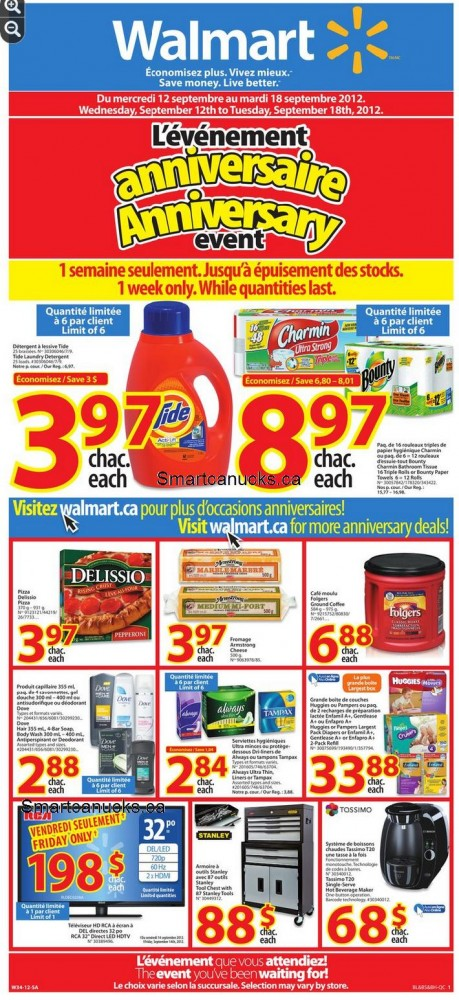 The walmart canada anniversary sale flyer is now live starting on the