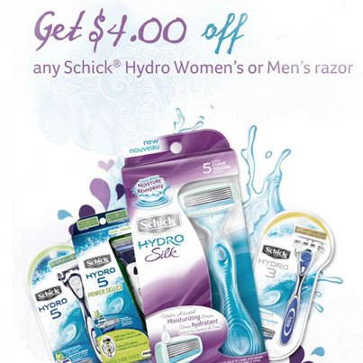 Coupons for schick hydro silk razor