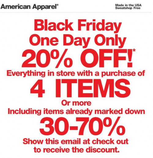 The best American Apparel promo code right now is FREESHIP This code is for 'Free Shipping on any order'. This code is for 'Free Shipping on any order'. Copy it and enter it on the American Apparel checkout page to use it.