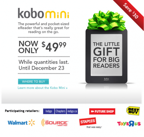 Kobo offers free shipping on all orders over $79 before taxes. Follow Kobo on social media to get special updates and offers. You can recycle your old e-reader with Kobo and, in most states, they will cover the shipping charges.5/5(11).